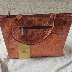 Macy's Patricia Nash copper bag NWT